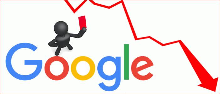 Googleにペナルティを受けたことを表現